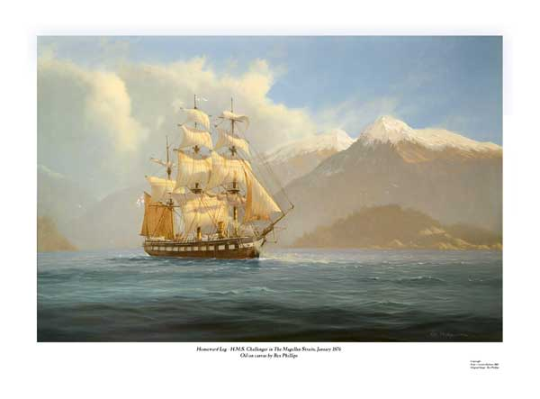 HMS Challenger in the Magellan Straits - PHILLIPS, Rex