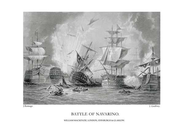 Battle of Navarino - RAMAGE, J.