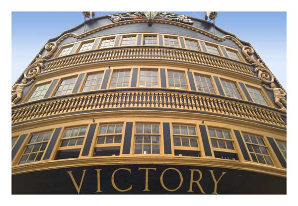 Stern Windows of HMS Victory [by Leon Reis]  - PRINT - REIS, Leon