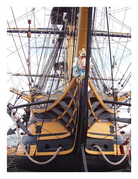 HMS Victory Bow - PRINT - REIS, Leon