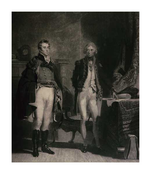 The Army and The Navy - Wellington Meets Nelson at Downing Street - REYNOLDS, Samuel William