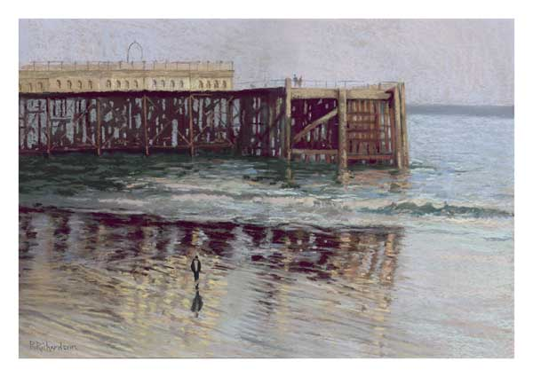 Beach Reflections, Southsea - PRINT - RICHARDSON, Peter