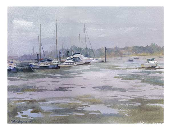Low Tide, Southsea Marina - CARD - RICHARDSON, Peter