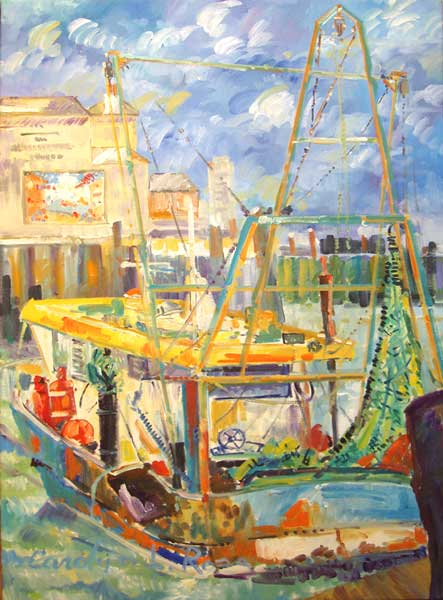 Camber Dock and Fishing Boat - ROSS, Carolyn L.