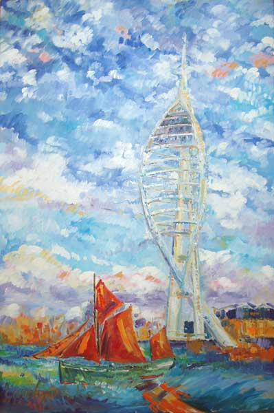 Spinnaker Tower and SB Kitty - ROSS, Carolyn L.