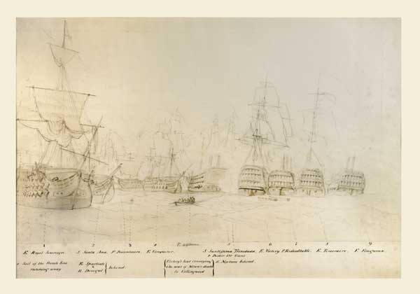 Sketch for Trafalgar - SCHETKY, John Christian