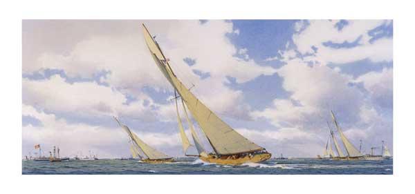 Columbia Chases Shamrock II - SWAN, Martin
