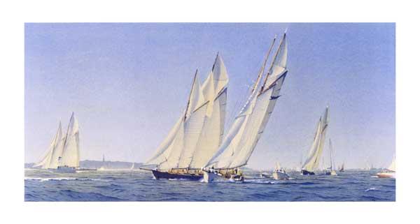 Schooner Racing off Ryde - SWAN, Martin