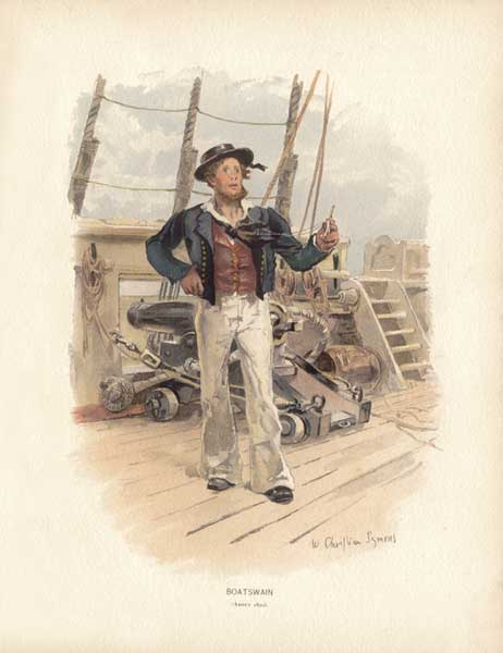 Boatswain about 1829 - SYMONS, W. Christian