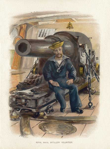 Royal Naval Artillery Volunteer - SYMONS, W. Christian