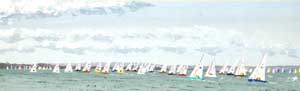 The X Boat Fleet Race Past Egypt Point, Cowes Week 2005 - THORPE, Hilary