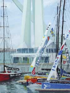 Volvo Ocean Race Boats in the Marina at Gunwharf Quays - THORPE, Hilary