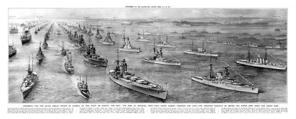1935 Fleet Review Illustrated London News - TURNER, Charles Eddows
