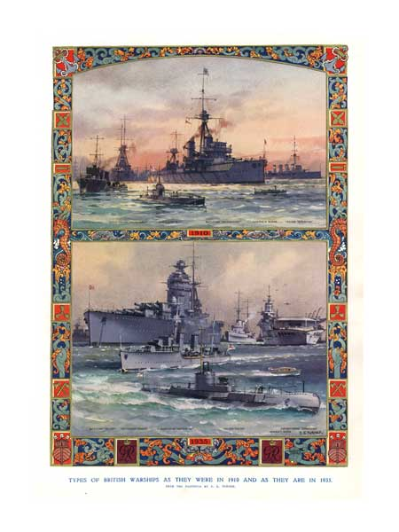 Types of British Warships as they were in 1910 and as they are in 1935 - TURNER, Charles Eddows