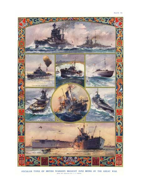 Peculiar Types of British Warships Brought Into Being By The Great War - TURNER, Charles Eddows