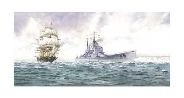 The First and Last Battleships - CARD - WIGSTON, John