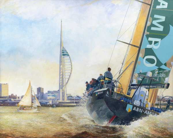 Volvo Ocean Race leader AMRO 1 Racing for the Spinnaker Tower - PRINT - WOOD, Chris N.