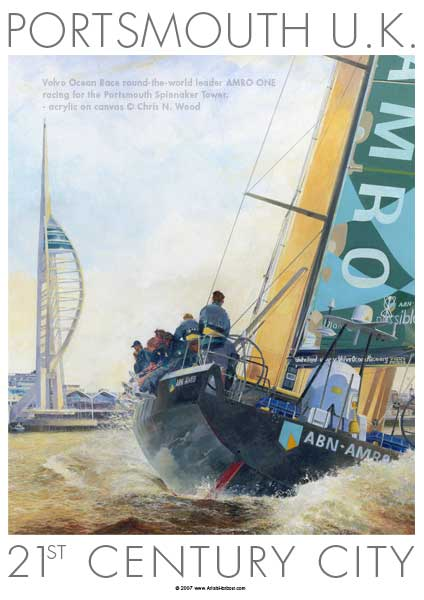 Spinnaker & Main Sail - POSTER - WOOD, Chris N.