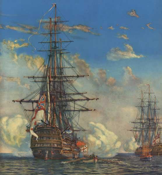 HMS Victory - PRINT - WYLLIE, Harold