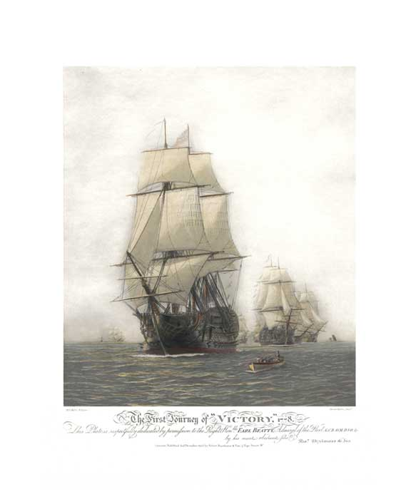 The First Journey of Victory, 1778 - PRINT - WYLLIE, Harold
