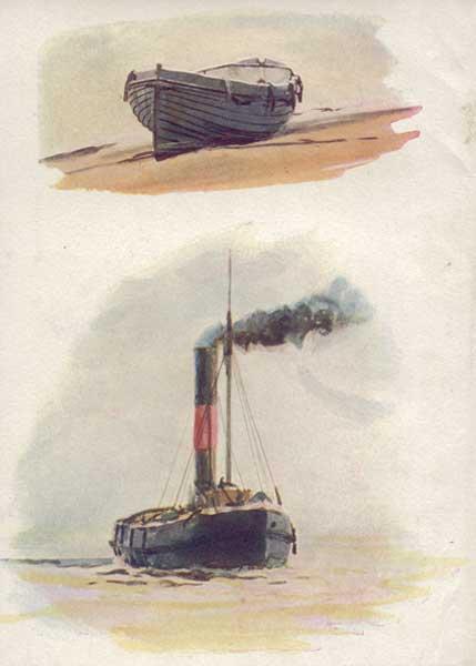 A Coastguard's Galley - WYLLIE, William Lionel