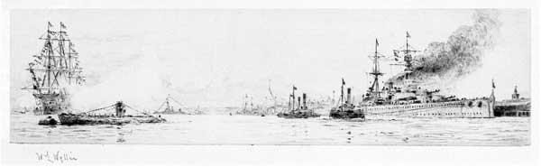 Battlecruiser HMS Renown - PRINT - WYLLIE, William Lionel