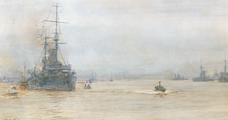 Capital Ships in the Firth of Forth c1915 - WYLLIE, William Lionel