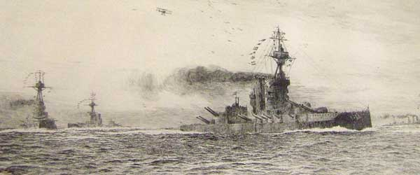 Dreadnoughts of the Iron Duke Class at Sea - WYLLIE, William Lionel