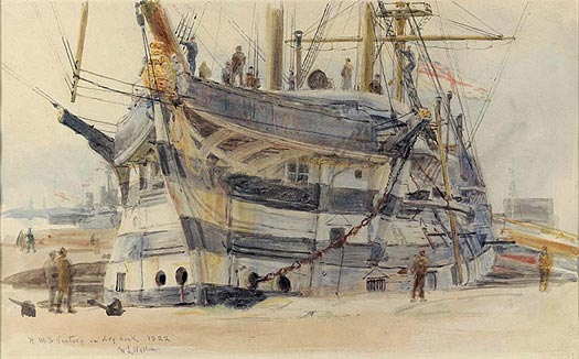HMS Victory in Dry Dock 1922 - WYLLIE, William Lionel