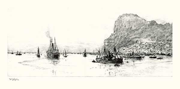 Rock of Gibraltar - ORIGINAL - WYLLIE, William Lionel