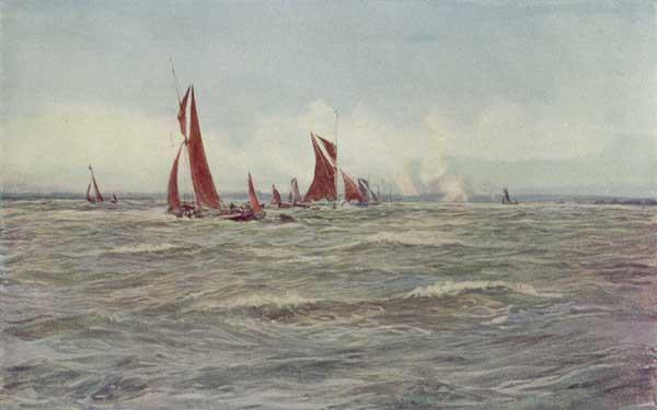 Windy Wet Medway - WYLLIE, William Lionel